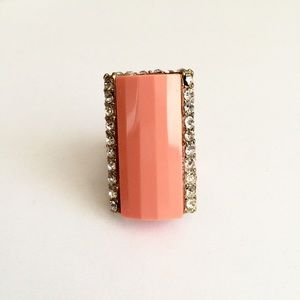 Jewelry - Woman's stretch coral statement ring